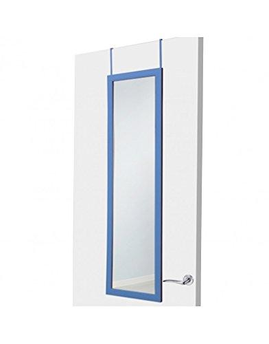 UNIMASA Espejo para puerta azul sin agujeros, Hogar y Mas