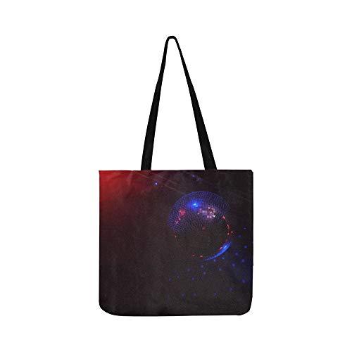 Shiny Disco Ball Auf Der Decke Leinwand Tote Handtasche Umhängetasche Crossbody Taschen Geldbörsen Für Männer Und Frauen Einkaufstasche