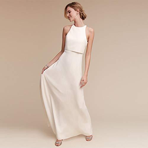 WJZ Schönes und Elegantes Sen Weißes Hochzeitskleid Temperament Göttin Hochzeitskleid...