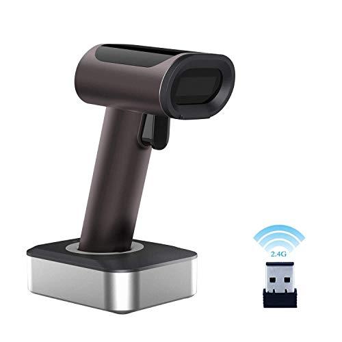 CHSSC Bluetooth-Barcode-Scanner Tragbarer 1D 2D-Laser-Barcode-Leser, USB-Kabel Und 2,4 GHz-Funk 2-in-1