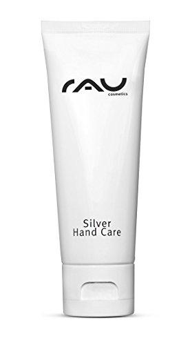 RAU Silver Hand Care 75 ml - Crème pour les mains aux microparticules d'argent, huile de jojoba et thé blanc. Crème hydratante pour les peaux sèches.