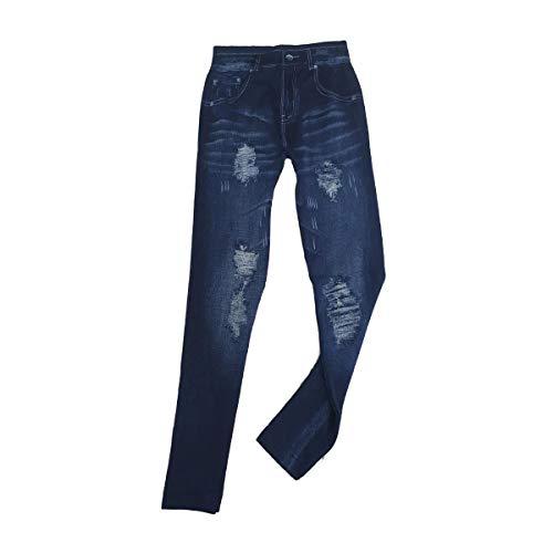 Cisne 2013, S.L. Leggins Jeggins Vaqueros para Mujer diseño Estilo Vintage Color Azul. Talla Única. Pantalones elásticos Ajustables para Mujer diseño Jeans Vintage. Color Azul