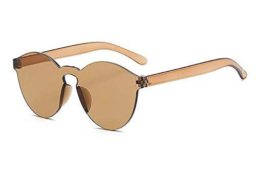 YSA Klassische Sonnenbrille Sport Sonnenbrille Einteilige Sonnenbrille Frauen transparent Kunststoff Brille männer Stil Sonnenbrille klar Candy Farbe