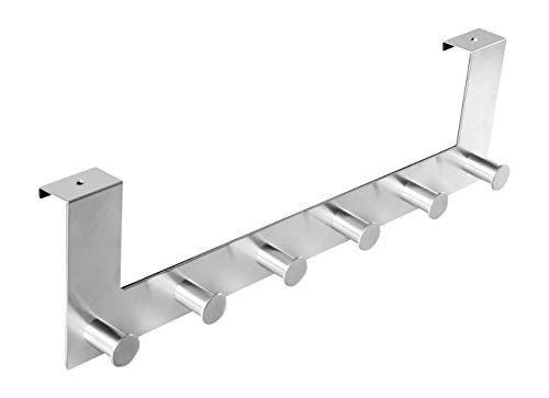Preisvergleich Produktbild Ambrosya® / Exklusiver Handtuchhalter aus Edelstahl / Bad Badezimmer Haken Halter Halterung Handtuch Handtuchhaken Handtuchstange Stange Tür Türgarderobe (Edelstahl (Gebürstet))