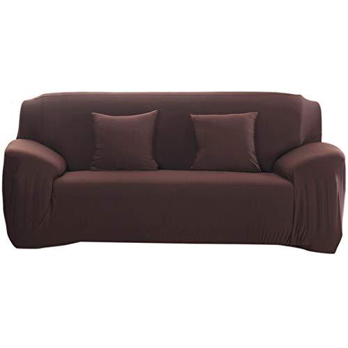 SHFOLSFH Moderne Reine Farbe Mode Elastische Sofabezüge Für Wohnzimmer Sofa Abdeckung Dehnbar Sofa Kissen Waschbar Sofa Schonbezug Chocolate 3 Seater