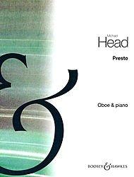 BOOSEY & HAWKES PRESTO (von drei Stücke für Oboe und Klavier) BOOSEY & HAWKES Kammer Musik Serie von Michael Head