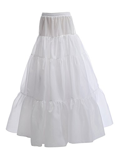 AlicePub Hoopless 3 Layer A Line Bridal Petticoat Crinoline for sale  Delivered anywhere in UK
