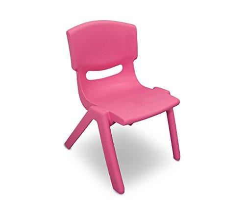 173710 sedia colorata per bambini in plastica resistente 26 x 30 x 55 cm. media wave store (rosa)