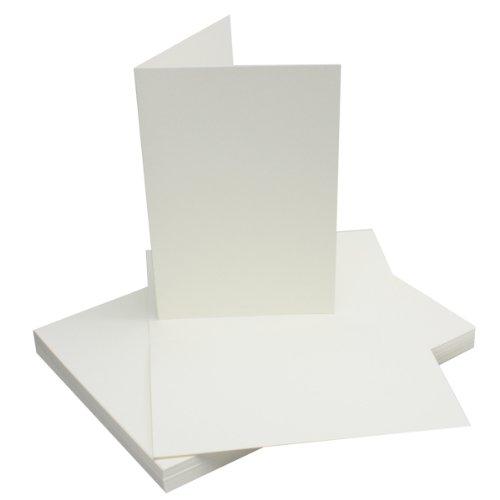 DIN A5 Falt-Karten - Naturweiß - 75 Stück - Einladungskarten - Menükarten - Kirchenheft - Blanko - 14,8 x 21 cm - Marke FarbenFroh® by Gustav Neuser
