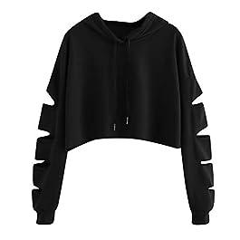 BHYDRY Donne Camicetta Moda Casuale Manica Lunga Felpa Maglione Pullover Solido