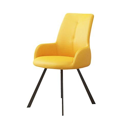 Office chair Bürostuhl Stühle Gaming Stuhl Hauptschlafzimmerstudie-Bürostuhl bequemer Computerstuhl kreativer ergonomischer Stuhl (Color : Yellow, Size : 58.5 * 58 * 86.5cm)