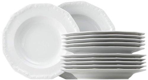 Rosenthal 10430-800001-18339 Maria Tafelset 12-teilig, weiß Service Plate