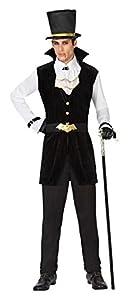 Atosa 28498 - vampiro Hombres traje, tamaño 50/52, negro/blanco