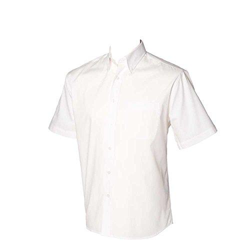 Mens Short Sleeve Oxford Shirt (Henbury Mens Short Sleeve Oxford Shirt)