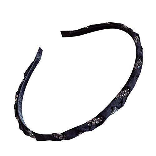CANDLLY Stirnband Damen, Mode Damen Hand verzierter Haselnuss-Rattan-Bogen mit feinem Rand Stirnband Kopfschmuck ()