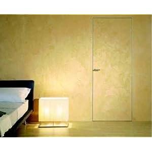 Porta Raso Muro Filo Muro l' invisibile - Tipologia spingere /tirare (Versione Muratura)