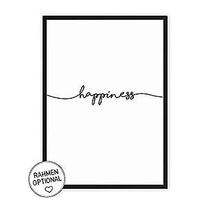 Wunderpixel® Kunstdruck happiness - auf wunderbarem Hahnemühle Papier DIN A4 | ohne Rahmen- schwarz-weißer FineArt-Print Poster zur Wand-Dekoration im Büro/Wohnung/als Geschenk-Idee zum Geburtstag
