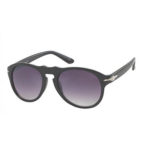 Chic-Net Lunettes de soleil aviateur unisexe lunettes teintées longues noir violet caps de support de 400UV d'argent porno nEMD4SDr8