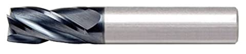Alfa Tools SC60619AL 11/32X3/8 4 Flute Single End Center Cutting AlTiN Carbide End Mill Made In USA,