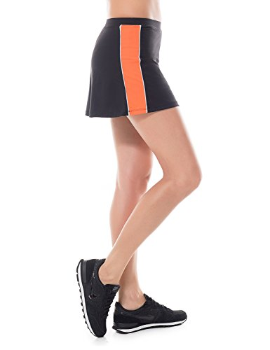 SYROKAN Femme Jupe Shorts de Tennis Remise en Forme Sports Robe Courte Noir