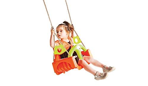 Universal Kunststoff Baby Kinder Schaukel-Sitz /Schaukelbrett inklusive Hängeseilen 3-fach an die Größe des Kindes anpassbar, Rot