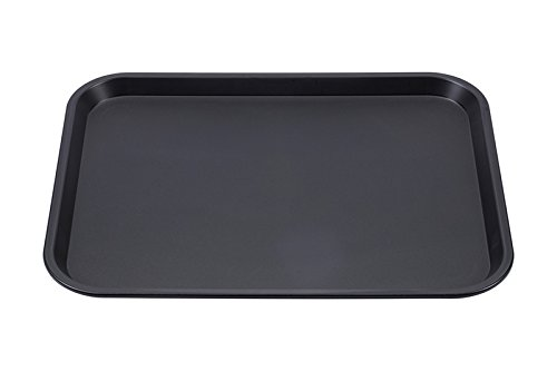 Tablett (SIXBY Fast Food Servier Tablett 45 x 35 cm, Farbe:Schwarz)