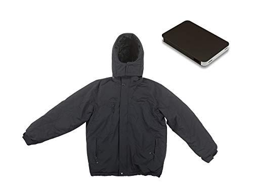 PEARL urban Heizbare Jacke: Beheizbare Outdoor-Jacke mit Powerbank (8.000 mAh), Größe XL (Regenjacken)