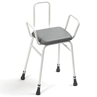 Days Height Adjustable Shower Perching Stool with Arms and Back