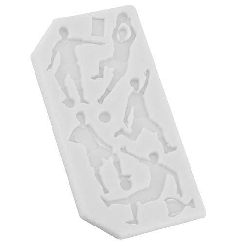 Silikon-Backform Fußball Rugby Golf Food Grade Silikonform Fondant Kuchen Schokolade DIY Backform Kinder Werkzeuge Für Hausgemachte Schokolade Backform Seife Kerze Gelee Pudding(Grau) (Hausgemachte Werkzeuge)