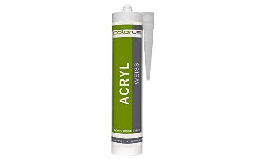 5 x Maleracryl Bauacryl 310ml weiß Fugendichtmasse Fugendichter Acryl