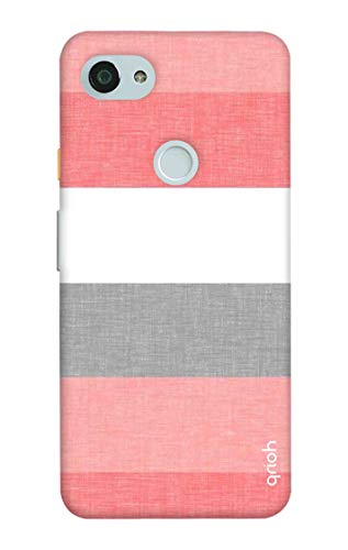Qrioh Printed Designer Back Case Cover for Google Pixel 3A - Fabric Stripes - 463MF-G2FL69