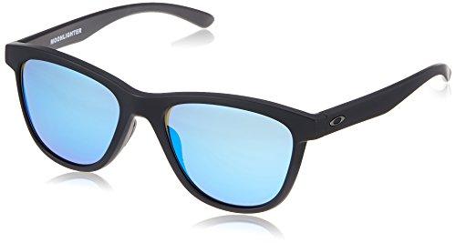 Oakley Damen Sonnenbrille MOONLIGHTER Schwarz (Matte Black/Sapphireiridiumpolarized), 53