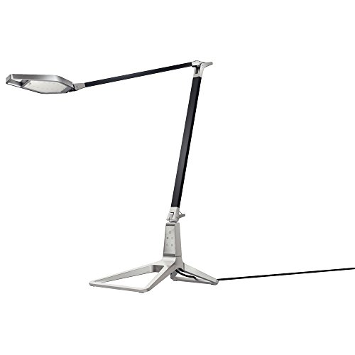 Leitz 62080094 style lampada da tavolo smart led, porta usb, connessione bluetooth, con presa per ue, nera