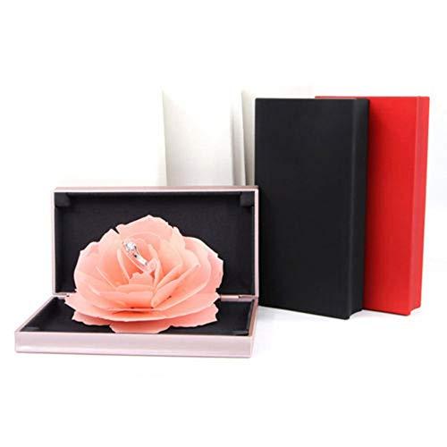 Jiaxingo Rose Ring Schaukel Box 3D Pop Up Rose Ring Halter Hochzeit Engagement Box für Schmuck...