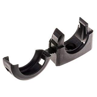 Adaptaflex Cable Clip Black Screw Nylon Conduit Clip, 34mm Max. Bundle