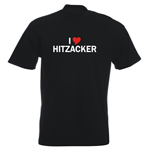 T-Shirt mit Städtenamen - i Love Hitzacker (Elbe) - Herren - unisex Schwarz