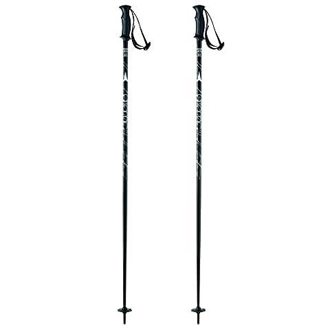 Atomic, AJ5005118120, Femme 1 Paire de Bâtons de Ski Alpin/Hors-piste pour Débutantes, Longueur 120 cm, Poignée AMT, CLOUD, Noir