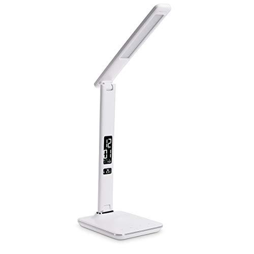 Navaris lámpara LED de mesa multi función - Reloj despertador de ...