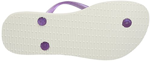 Havaianas Slim Frozen, Tongs  Fille Multicolore (White 0001)