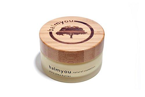 balmyou Reine Nilotica Sheabutter im 100ml Glas mit Bambusdeckel zertifizierte Naturkosmetik aus Uganda unraffiniert kaltgepresst vegan ohne Zusätze