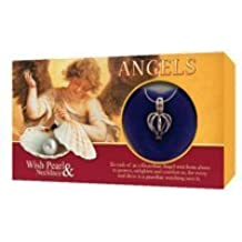 Love Pearl In Clamshell Locket & Silver Necklace Pendant Gift Set Angels