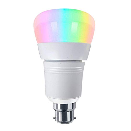 Lightone B22 LED Smart WiFi Glühbirne, 7W (60W Glühlampenäquivalent), RGB Multicolor arbeitet mit Alexa Google Home Assistant, dekorative Lampe für Weihnachten, Halloween, Festival, Party, Pack 1