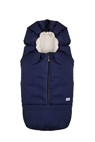 Nuvita 9845 junior carry on - sacco termico universale per carrozzina, ovetto, seggiolino auto e passeggino.ideale per neonati,bimbi e bambini (blue beige)