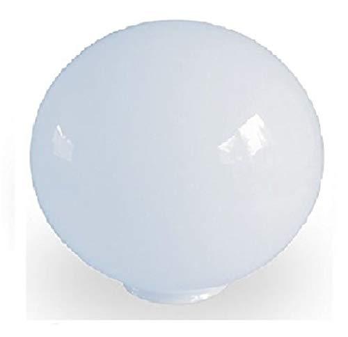 20.0cm de diámetro Blanca de vidrio esféricos pantalla de lámpara. Circunferencia: 63cm, Cuello: 7.6cm de diámetro, Agujero: 6.7cm de diámetro (tulipa)