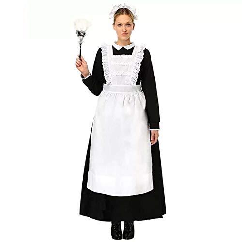 Kurzarm Kellnerin Cosplay Kostüm Kleid Retro Bayerisches Bierfest Cosplay Kostüme Sexy Dessous Bow Rock Funny Robe Outfits Elegant Halloween Cosplay Große Maid Dress Maidservant Bier (Bier Kann Hunde Kostüm)