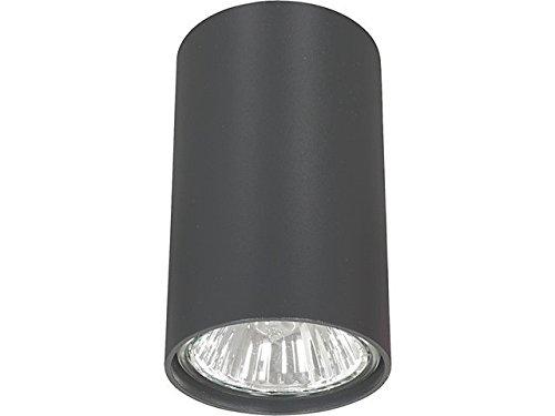 SET: LED Aufbauspot, LED Deckenaufbauleuchte, Aluminium Deckenleuchte Rund Ø55mm x 90mm, Grpahite + GU10 Fassung, LumenTEC (Grpahite)