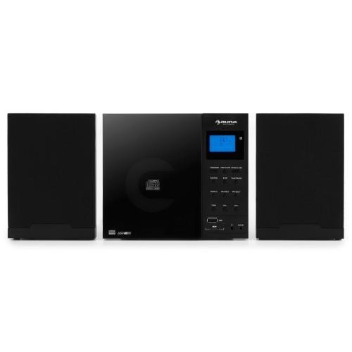 Cd-player Mini-regal (Auna mcd-74-dab Micro Set schwarz–Babykleidung Audio für Zuhause (Home Audio Micro System, schwarz, DAB +, FM, LCD, 3,5mm, SD))