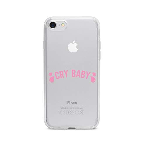 licaso Apple iPhone 7 Handyhülle Smartphone Apple Case aus TPU mit Pink Cry Baby Print Motiv Slim Design Transparent Cover Schutz Hülle Protector Soft Aufdruck Lustig Funny Druck Lil Taste
