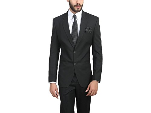 ManQ Black Slim Fit Formal/Party Men's Blazer  available at amazon for Rs.1750
