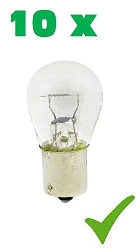 PRAKTISCHES 10er SET! (Grundpreis: 1,30 EUR/Stk) 10 x P21W 24V 21W BA15s Glühlampe Glühbirne Stopplicht- Blinklicht- Schlusslicht- Kennzeichen-Lampe Halogen-Lampe Auto-Lampe